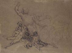Théodore Géricault - Le radeau de la Méduse (étude) - Dessin - Circa 1819 - Musée du Louvre.
