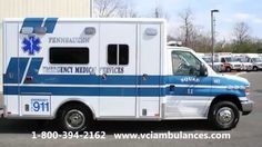New Ambulance Delivery by VCI to Pennsauken EMS 2015 Horton 453 16479-16480