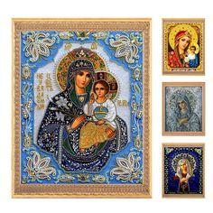 Vá diy 5d vòng ab bức tranh kim cương, kim cương thêu, 3d kim cương cross stitch pattern rhinestone mosaic trinh nữ chúa giêsu thánh giá