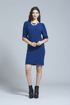 Power Play Dress Your Perfect, Play Dress, Dress Making, Women Wear, High Neck Dress, Winter, Sleeves, How To Wear, Clothes