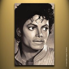 MICHAEL JACKSON Original Painting poster by AugustStudiosOnline