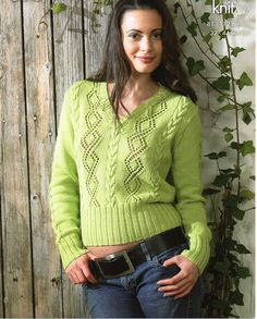 womens sweater PDF slipover jumper lacy sweater cotton sweater cable…