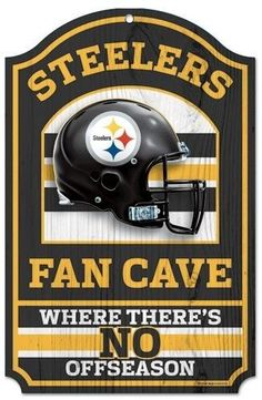"Pittsburgh Steelers Wood Sign - 11""""x17"""" Fan Cave Design Z157-3208505958"
