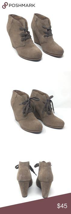 2fa906125 Like new. NWOT. Adorable wedge booties with knitted shoestrings. Suede  upper, leather and fabric lining. Dolce Vita Shoes Ankle Boots & Booties