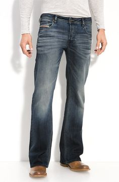 Free shipping and returns on DIESEL® 'Zathan' Bootcut Jeans (885K) at Nordstrom.com. Heavy fading and whiskered details offer a time-worn appearance to bootcut jeans reinforced with antique copper hardware.