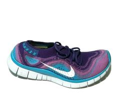 Nike Free Flyknit + Womens Running Shoes 6.5 Atomic Purple 615806-515 #Nike #Casual Nike Free Flyknit, Nike Shoes For Sale, Running Women, Running Shoes, Nike Women, Sneakers Nike, Purple, Casual, Runing Shoes