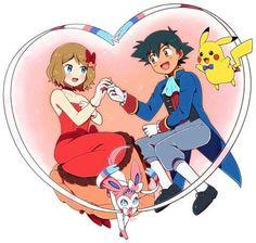 So cute ash and serena amourshipping❤️💕 Pokemon Kalos, Pokemon Red, Pokemon Ships, Pokemon Comics, Cute Pokemon, Pokemon Couples, Pokemon People, Anime Couples, Satoshi Pokemon
