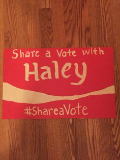 Student Council Election poster ideas. My daughter made this. She did a great job!