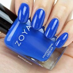 Zoya Sia from the Focus Collection 2015 (See an in-depth review with lots of swatches of it on SwatchAndLearn.com.) Blue Nail Polish, Purple Nail, Garden Bedroom, Bedroom Decor, Nail Arts, My Nails, Swatch, Decor Logo, Cosmetics