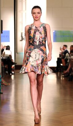Miranda Kerr wears Zimmermann Speakeasy Mosaic dress for David Jones.