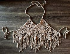 Handmade crochet halter top by IslandsByJayne See other ideas and pictures from the category menu…. Faneks healthy and active life ideas Mode Crochet, Crochet Bra, Crochet Halter Tops, Crochet Crop Top, Crochet Woman, Crochet Blouse, Crochet Clothes, Crochet Skirts, Crochet Designs