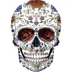 sugar skull model for wall