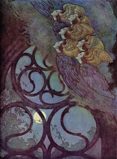 "Illustration by Edmund Dulac from ""Poems of Edgar Allan Poe."" ""The Bells."""