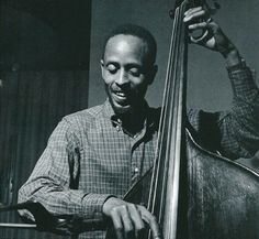 "Percy Heath 30/04/1923 – 28/04/2005 Bass, cello Photograph by Francis Wolff © Mosaic Images From the Blue Note album 0946 3 92768 2 0 ""The magnificent Thad Jones"""