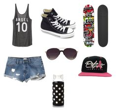 """Skater #1"" by clove2003 ❤ liked on Polyvore featuring interior, interiors, interior design, home, home decor, interior decorating, Victoria's Secret, RVCA, Converse and Blind"