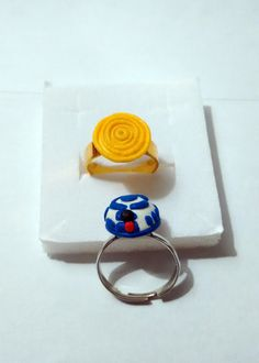 """Star Wars """"R2D2"""" """"C3PO"""" Couple Rings by Lorybitlittleshop on Etsy"""
