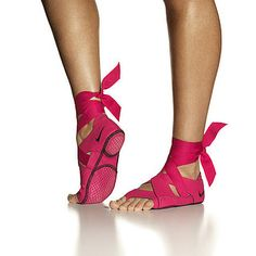 Nike Yoga Shoes. I would like to try these, shoes grip the floor and prevent sliding.