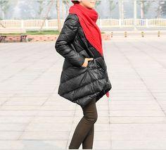 Loose Women Down Jacket  Irregular Hem by ttlovewomenclothing, $156.00