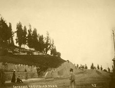 Elysian Park was created in 1886, making it the oldest park in Los Angeles. Here it is sometime in the 1890s. (Bizarre Los Angeles)