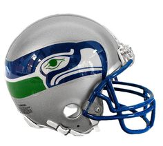 Seattle Seahawks Throwback 1983-2001 Riddell Z2B Mini Helmet