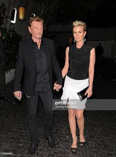 Photo d'actualité : Johnny Hallyday and Laeticia Hallyday leave...