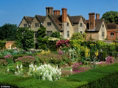 Blooming marvellous: Packwood House in Warwickshire was used for a moving scene in the BBC's production of Richard II