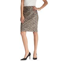 """Cheetah Seamed Pencil Skirt in Doubleweave Cotton - Fiercely feminine, we designed this seamed style in our decadent doubleweave cotton, flaunting a refined weave that perfectly stretches across for a polished look. Back zip. Back vent. Lined. 23"""" long."""