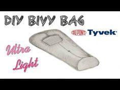 Cheap DIY Ultra Light Tyvek Bivy Bag Sleeping Shell w/footbox⛺designed t. Cheap Camping Gear, Solo Camping, Ultralight Backpacking, Diy Camping, Camping Survival, Survival Prepping, Outdoor Camping, Outdoor Gear, Survival Tools