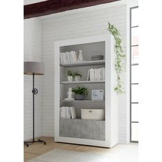 , 3 Shelf Bookcase, Library Shelves, Wooden Bookcase, Etagere Bookcase, Display Shelves, Shelving, Corner Display Unit, Contemporary Design, Modern Design