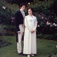 Pride & Prejudice (1995) This looks like a pre production press shot. Note the wig Jennifer is wearing is different to the style she wears it in in the series and she has no stockings on!!