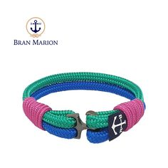 Morduch Nautical Bracelet by Bran Marion Nautical Bracelet, Nautical Jewelry, Marine Rope, Captain Hook, Everyday Look, Anklet, Handmade Bracelets, Color Combinations, Jewelry Collection