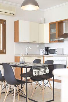 kitchen details from our Afitos Hidden Gems in Halkidiki, Greece - vacation rentals Halkidiki Greece, Greece Vacation, Vacation Rentals, Villa, Gems, Kitchen, Decor, Cooking, Decoration