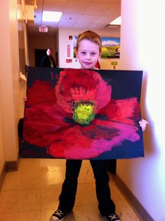 "The Artist Playground: Poppies November - Georgia O""Keefe Style Kids Art Class, Art Lessons For Kids, Georgia O'keefe Art, Kindergarten Art Lessons, School Lessons, Remembrance Day Art, Third Grade Art, Montessori Art, Fall Art Projects"