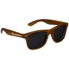 View a larger, more detailed picture of the Risky Business Sunglasses - Wood Grain, 100 Minimum, $1.59 - $2.75
