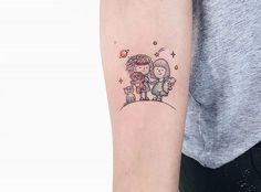 Mom Daughter Tattoos, Tattoos For Daughters, Tattoos For Kids, Small Tattoos, Best Friend Tattoos, Tattoo Watercolor, Tatoos, Piercing, Tattoo Ideas