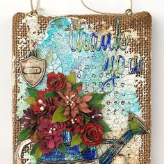 What's quilling you may ask? Let Layers of Ink show you in this gorgeous, handmade floral burlap panel tutorial.