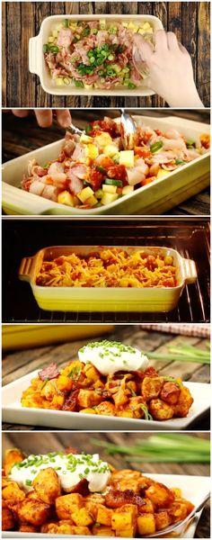 Mais uma receitinha super fácil de Frango com Batatas que é sucesso garantido! #frangocombatatas #frango #batatas