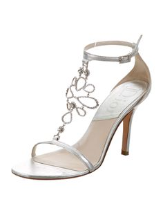 Christian Dior Jewel Metallic Embellished Sandals - Shoes - CHR44661 | The RealReal
