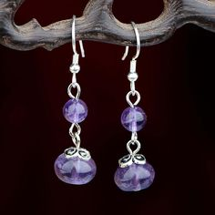 Purple Crystal 925 Stealing Sliver Long Earrings Vintage Fashion Crystal Silver Earrings Jewerly from Ademao,$6.18 | DHgate.com