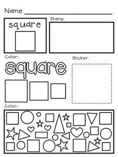 Super Simple Math: Shape Worksheets, 2D Shapes, NO PREP