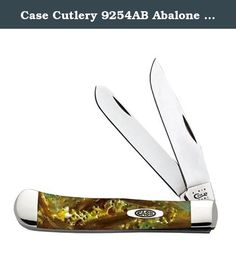 Case Cutlery 9254AB Abalone Corelon Trapper Pocket Knife With Stainless Steel Blades Green, Gray, White and Gold Mixed Corelon. W.R. Case and sons Cutlery company is an American manufacturer of premium, hand-crafted knives that are passed down for generations. Based in bradford, Pennsylvania, case's offerings cover a wide range of product categories, from traditional folding pocket knives and Fixed blade sporting knives to limited production commemoratives and collectables.