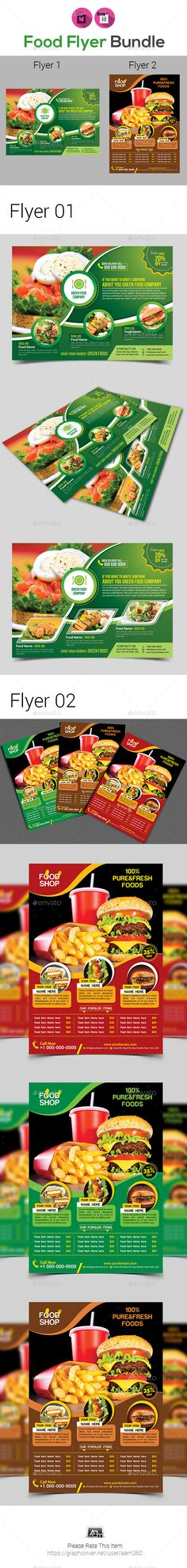 #Food Flyer Template Bundle - Restaurant Flyers Download here:    https://graphicriver.net/item/food-flyer-template-bundle/20179876?ref=suz_562geid