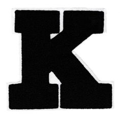 "XL Extra Large Chenille Black Letter ""K Patch Katie Kelly Krystal Kristin Kirsten Kim Kate Kath Letter K Design, Light Letters, Custom Patches, Lion Of Judah, Patch Design, Black Letter, I Survived, Krystal, Getting Things Done"