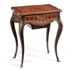 French 'Necessaire' Side Table - Antiques Atlas