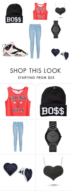 """""""Jordan's"""" by zyzy101 ❤ liked on Polyvore featuring Retrò, 7 For All Mankind, Michael Kors, Amorium, women's clothing, women's fashion, women, female, woman and misses"""