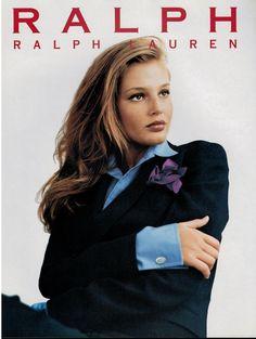 1996 RALPH LAUREN : BRIDGET HALL Magazine Print Ad