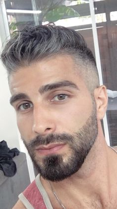 Mens Hairstyles With Beard, Haircuts For Men, Beard Styles For Men, Hair And Beard Styles, Face Men, Male Face, Beautiful Men Faces, Gorgeous Men, Hairy Men