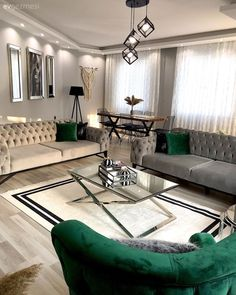 Modern and Art Deco meet in this Istanbul House H.- Modern und Art Deco trifft sich in diesem Istanbul House Interior Design Living Room, Living Room Designs, Room Decor Bedroom, Living Room Decor, Art Deco, Luxury Living, Istanbul, House Art, Deco Interiors
