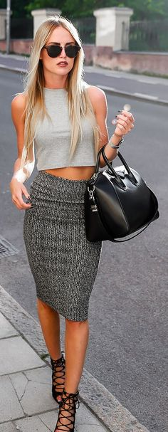 Shades Of Grey And Black Simple And Chic Outfit Idea by By Kiki SHOP @ CollectiveStyles.com
