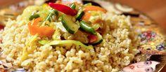 Pikantná opekaná zelenina s bulgurom  Urobte aj vy radosť svojej žene tak ako muž Natálie Kuľkovej smile – emotikon Pikantná opekaná zelenina s bulgurom  http://varme.sk/recipe/pikantna-opekana-zelenina-s-bulgurom/?utm_source=fb&utm_medium=pikantna-opekana-zelenina-s-bulgurom&utm_campaign=pinterest-main